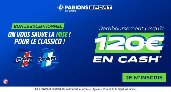 parionssport en ligne 120 euros offerts en cash