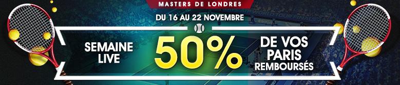 netbet-masters-londres-tennis-live-50-pour-cent-rembourses