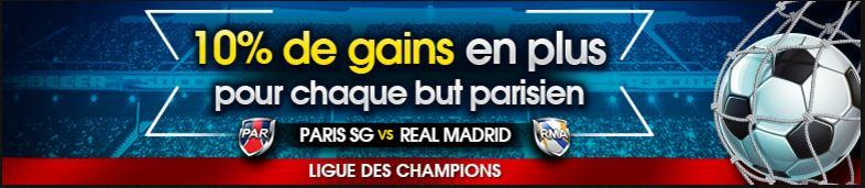 netbet psg paris real madrid ligue des champions 10 pcent gains plus