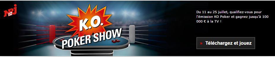 k o poker show pokerstars vous fait participer l 39 mission sur nrj 12 avec la cl. Black Bedroom Furniture Sets. Home Design Ideas
