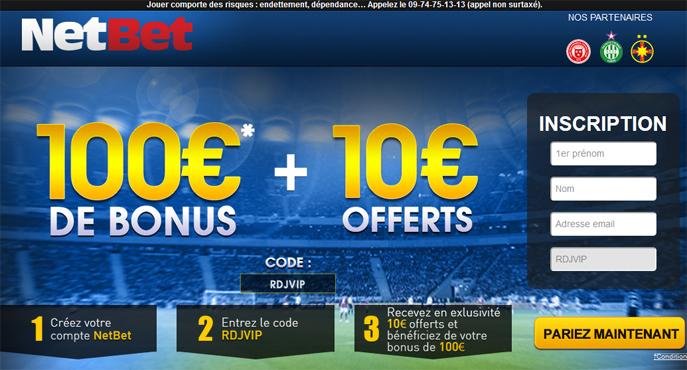 netbet-bonus-100-euros-exclu-rdj-club-vip-10-euros-offerts