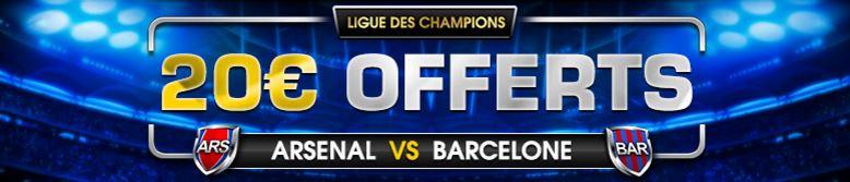 netbet-ligue-des-champions-cashback-20-euros-arsenal-barcelone
