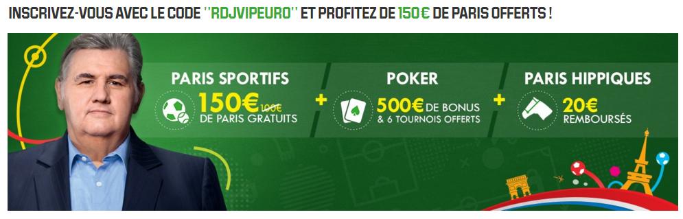 unibet 150 euros paris offerts