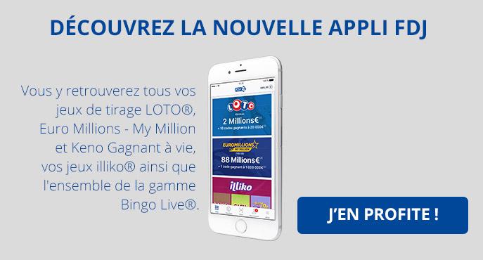 application mobile fdj