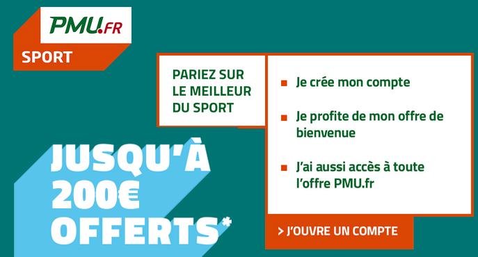 PMU Sport 170 euros paris offerts