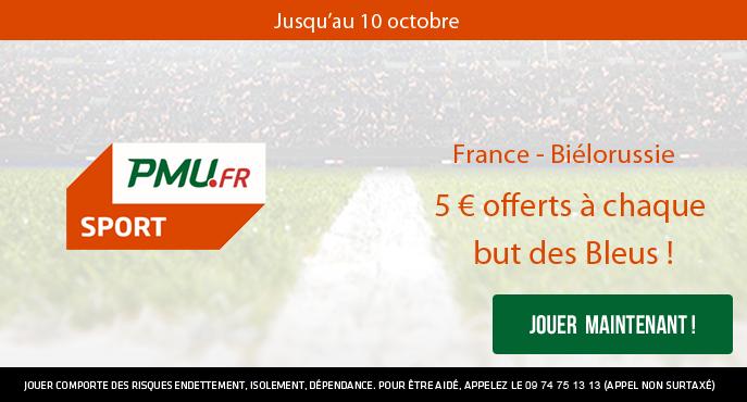 pmu-sport-france-bielorussie-5-euros-offerts-but-eliminatoires-coupe-du-monde-2018