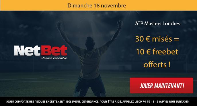 netbet-tennis-atp-masters-londres-10-euros-mises-30-euros-freebet