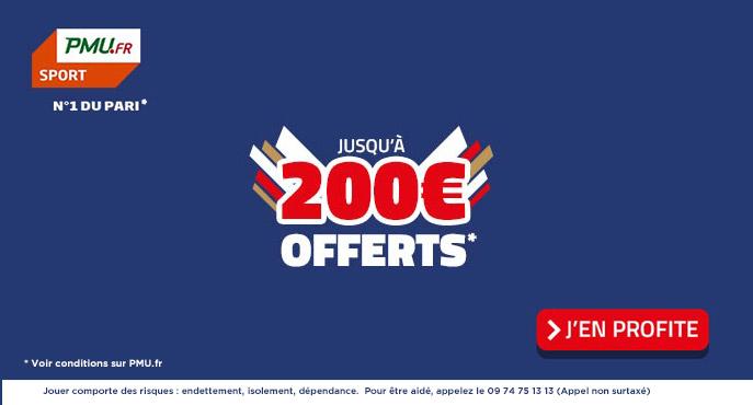 PMU Sport 200 euros paris offerts
