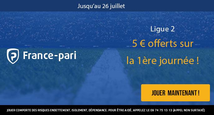 france-pari-ligue-2-football-premiere-journee-5-euros-freebet