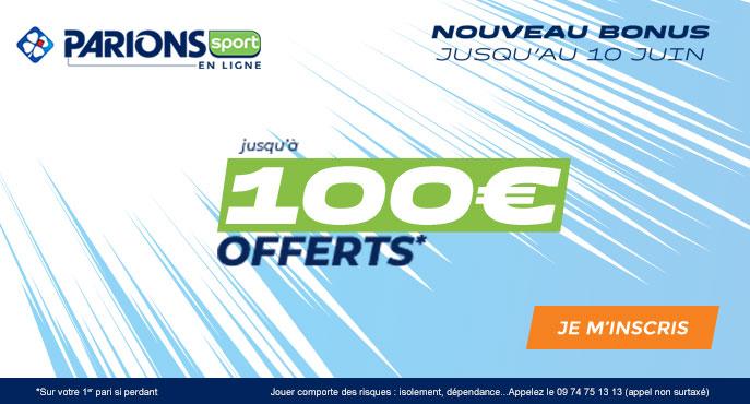 bonus parionssport en ligne 100 euros offerts en cash