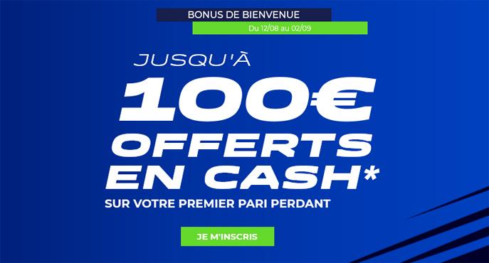 parionssport en ligne 100 euros offerts en cash