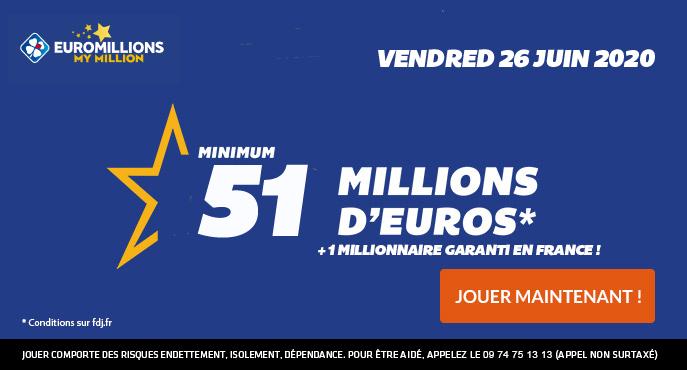 euromillions vendredi 26 juin 2020