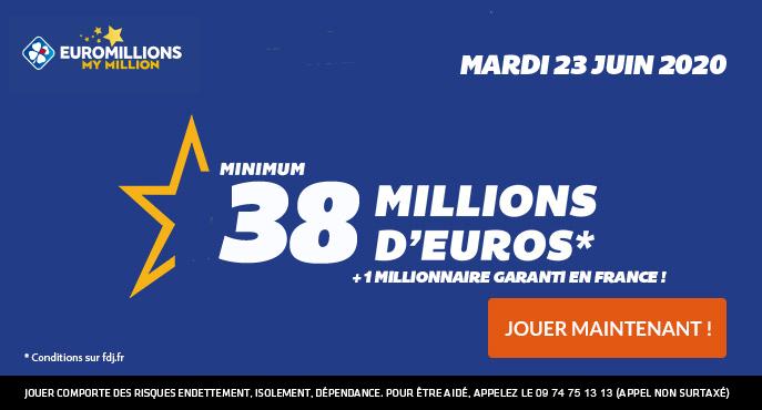 euromillions mardi 23 juin 2020