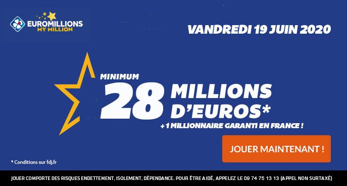 euromillions vendredi 19 juin 2020