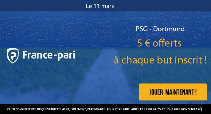 france-Pari-ligue-des-chamPions-PSG-dortmund-5-euros