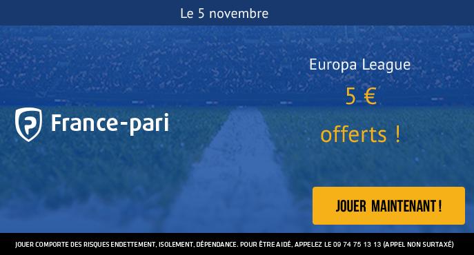 france-pari-ligue-europa-3e-journee-5-novembre-5-euros-offerts