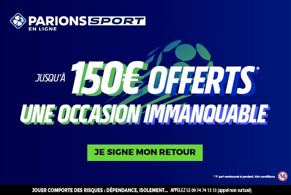 parionssport en ligne 150 euros offerts en cash
