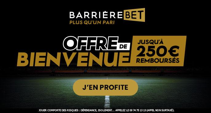 Barrière Bet vous offre un Bonus de 250€ pour parier !