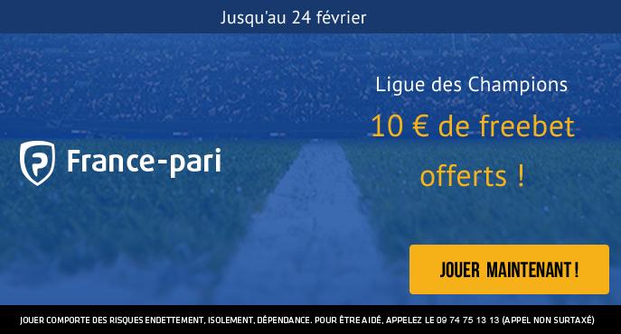 france-pari-football-ligue-des-champions-8e-finale-aller-10-euros-freebet-24-fevrier