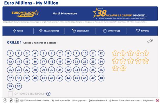 comment jouer euromillions sur internet