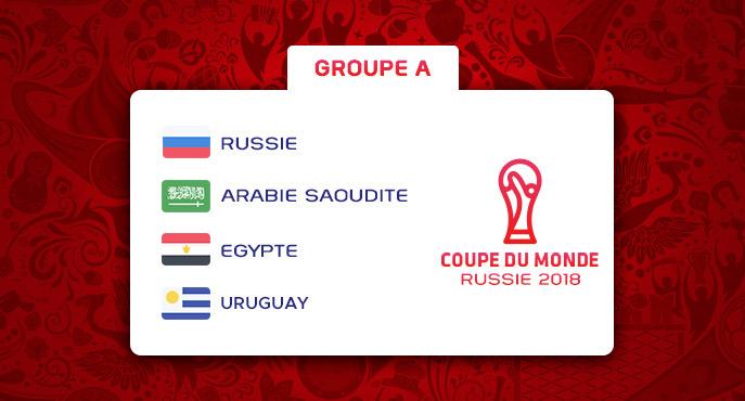 Les équipes du Groupe A de la Coupe Du Monde 2018