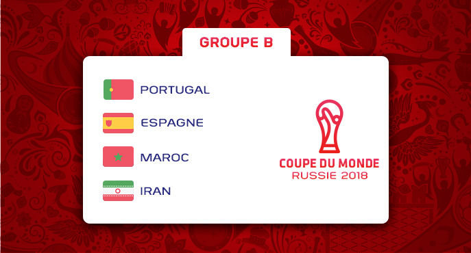 Les équipes du Groupe B de la Coupe Du Monde 2018
