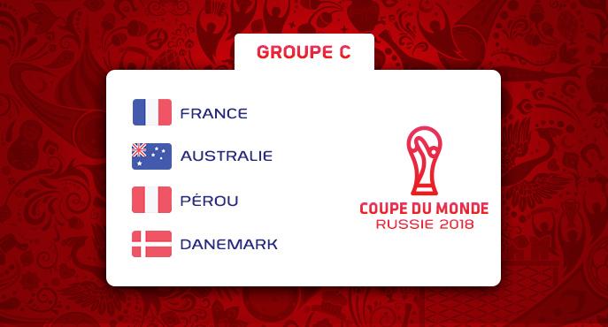Les équipes du Groupe C de la Coupe Du Monde 2018