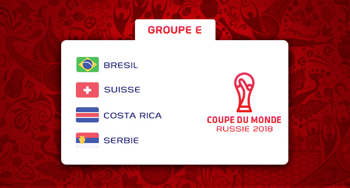 Les équipes du Groupe E de la Coupe Du Monde 2018