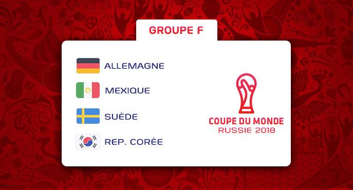 Les équipes du Groupe F de la Coupe Du Monde 2018