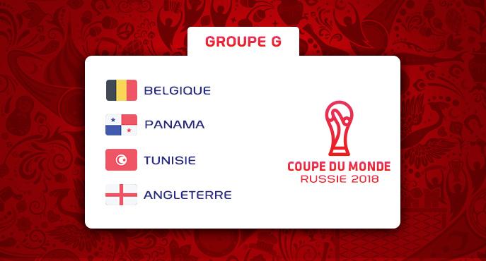 Les équipes du Groupe G de la Coupe Du Monde 2018