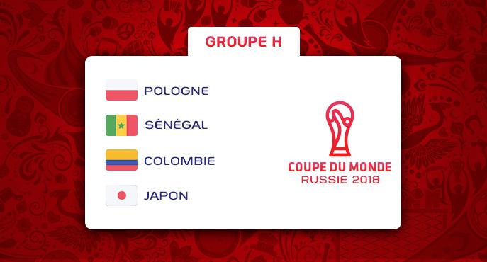 Les équipes du Groupe H de la Coupe Du Monde 2018